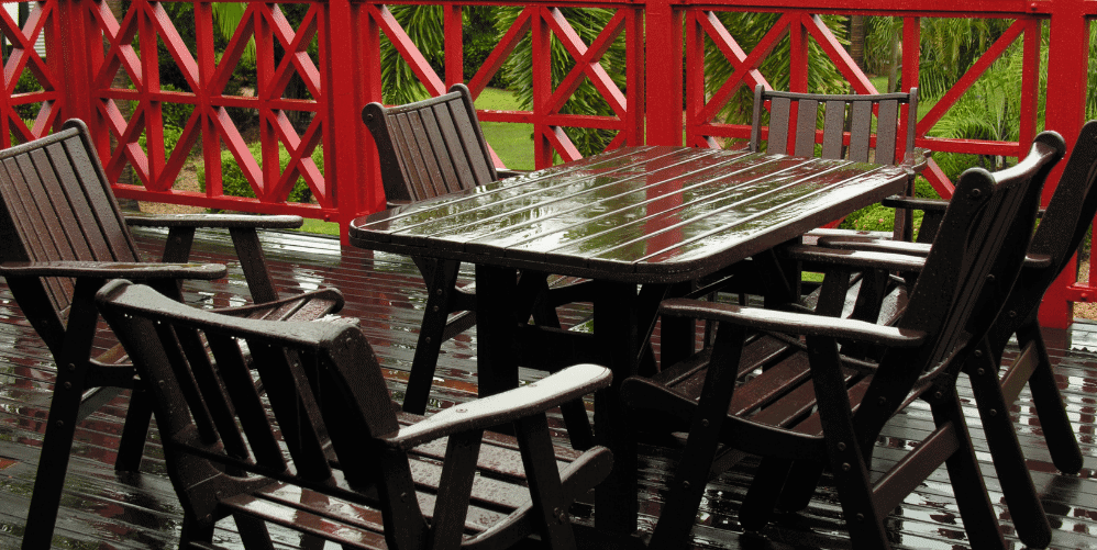 How do I protect my furniture during the rainy season?