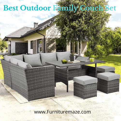 best outdoor family couch set